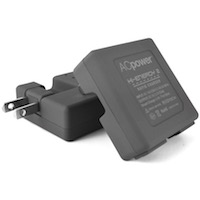 ACpower Compact, High-Power Dual-USB Wall Charger