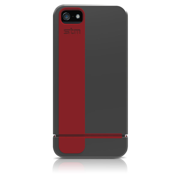 Harbour for iPhone 5/5S: Back (Gray + Red)