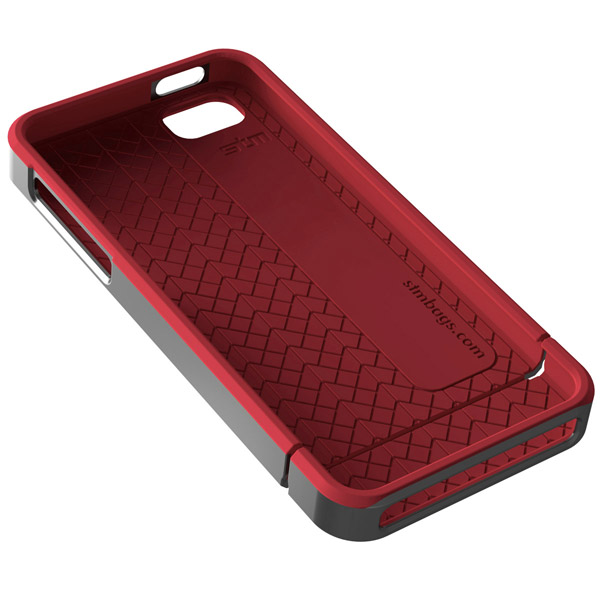 Harbour for iPhone 5/5S: Inside (Gray + Red)