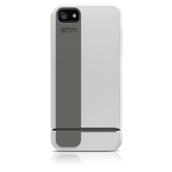 Harbour for iPhone 5/5S: Back (White + Gray)