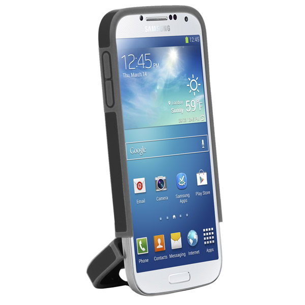 Harbour 2 for Galaxy S4: Hinged bottom (Black + Dark Gray)