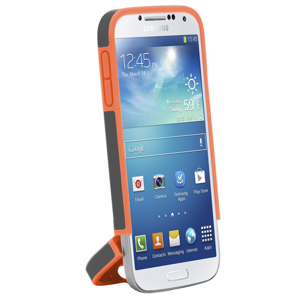 Harbour 2 for Galaxy S4: Hinged bottom (Charcoal + Orange)