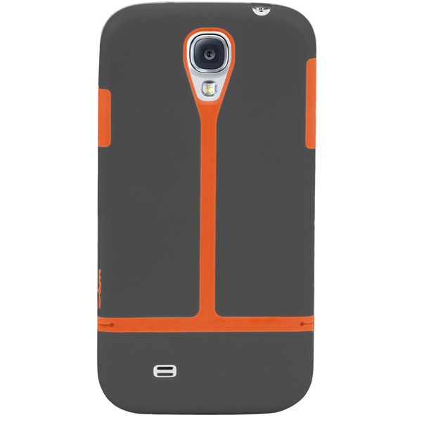 Harbour 2 for Galaxy S4: Back (Charcoal + Orange)