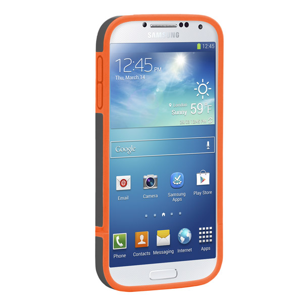 Harbour 2 for Galaxy S4: Front (Charcoal + Orange)