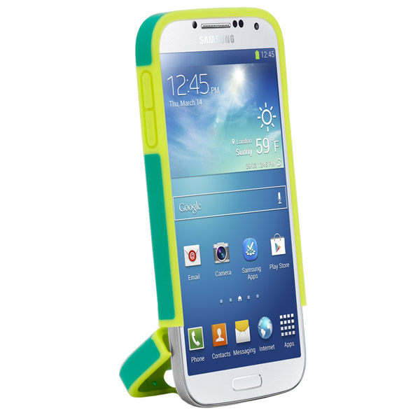 Harbour 2 for Galaxy S4: Hinged bottom (Emerald + Yellow)