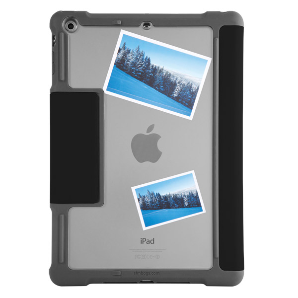 STM Dux: Clear back for photo personalization (Black)