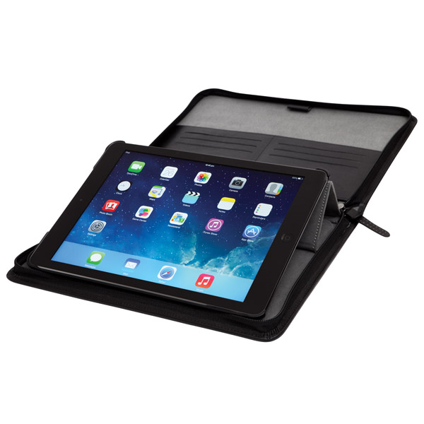 STM Leather Folio: Typing Angle (Black)