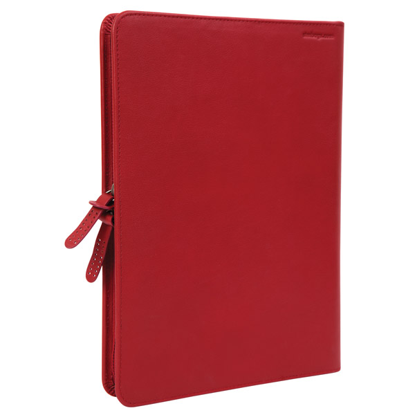 STM Leather Folio: Back Angle (Red)