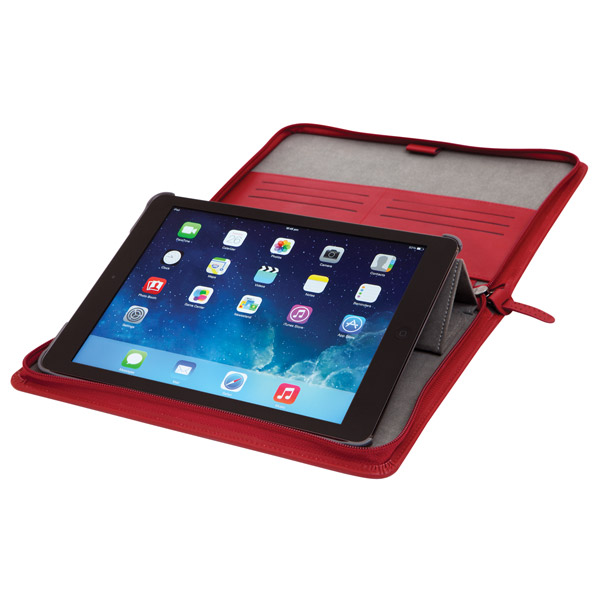 STM Leather Folio: Typing Angle (Red)