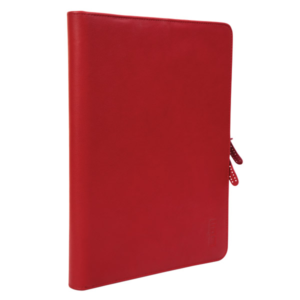 STM Leather Folio: Front Angle (Red)