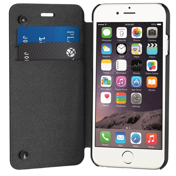 Flip for iPhone 6: Front cover open (Black)