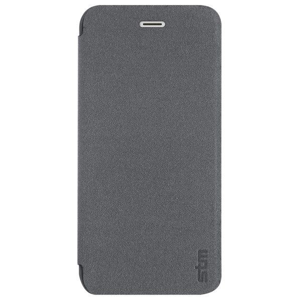 Flip for iPhone 6: Front cover closed (Charcoal)
