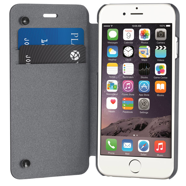 Flip for iPhone 6: Front cover open (Charcoal)