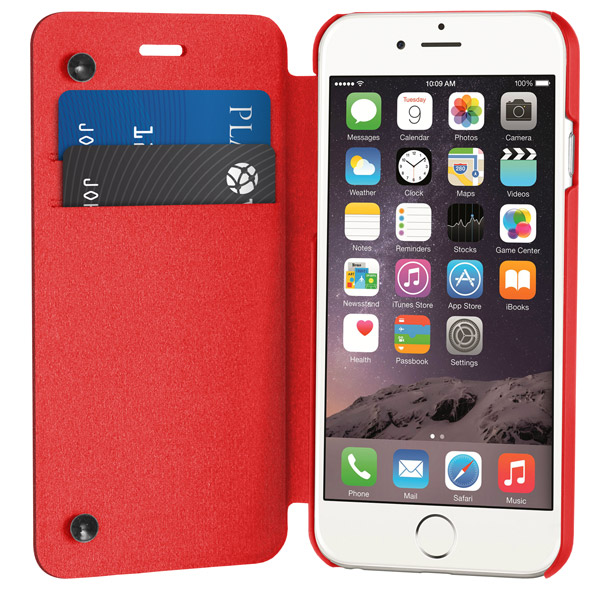 Flip for iPhone 6: Front cover open (Red)