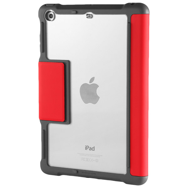 STM Dux: Clear back allows device's beauty to shine (Red)
