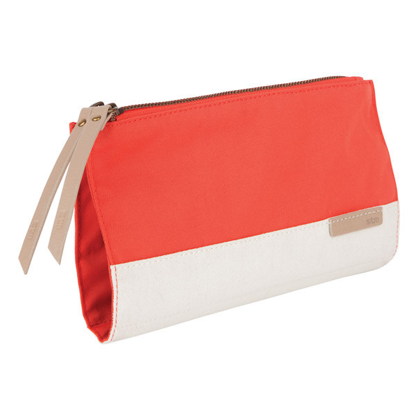 STM Grace Clutch: Angle (Coral)