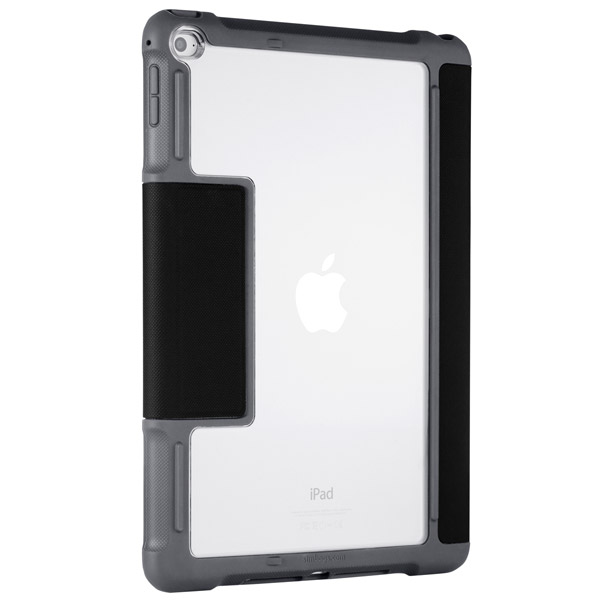 STM Dux: Case with stand and clear back (Black)