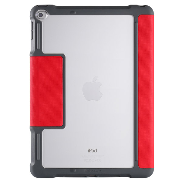 STM Dux: Clear back for tagging/personalization (Red)