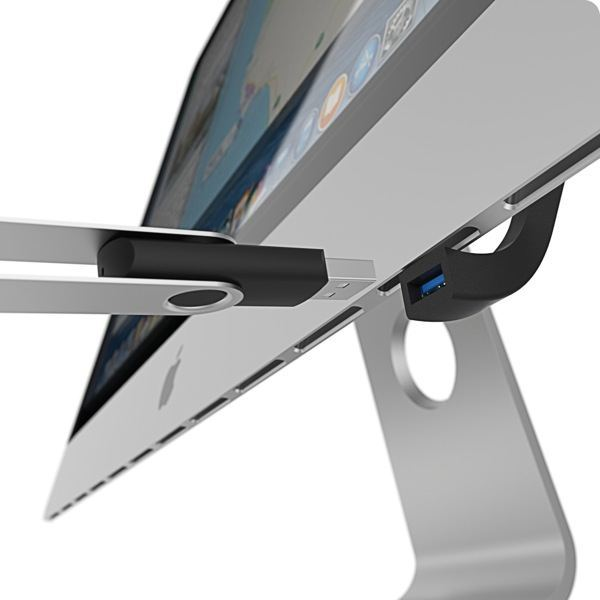 Jimi: Hooks into iMac bottom for stability