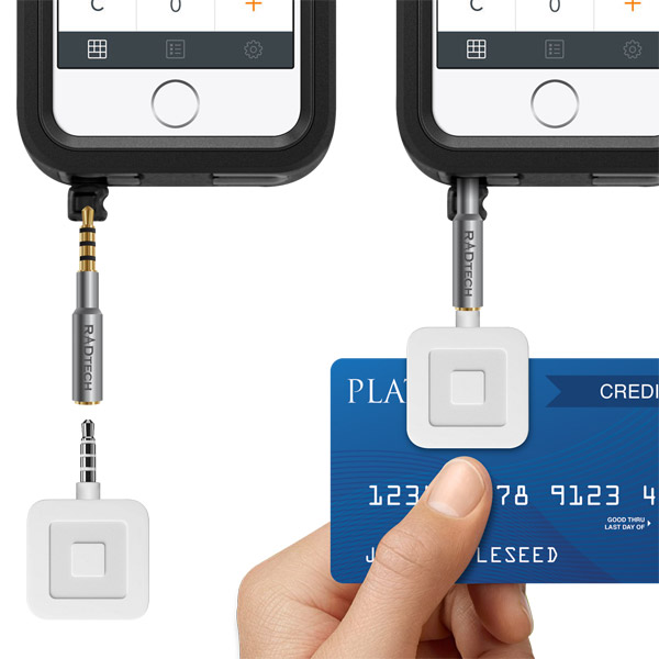 Extends Credit Card Readers - Square, Paypal and more (STD)