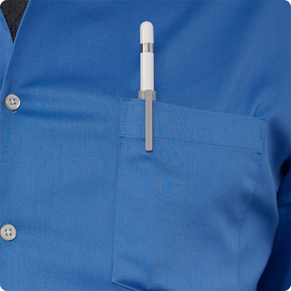 PencilClipz: Clipped onto shirt pocket