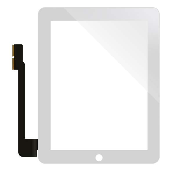 iPad 3: White front glass + digitizer