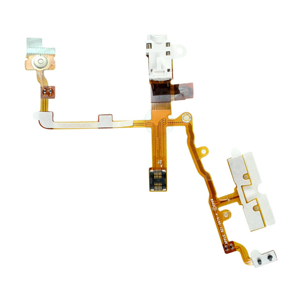 iPhone 3GS: Jack and Sleep / Wake Switch Cable (White)