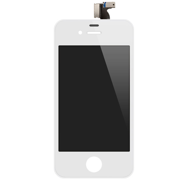 iPhone 4: Glass + LCD + Digitizer (White, GSM)