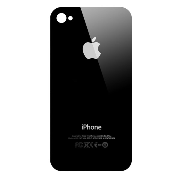 iPhone 4: Rear Glass Black (GSM)