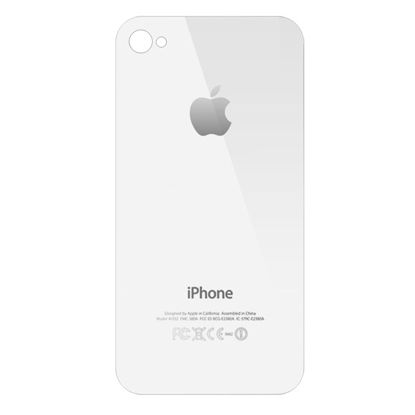 iPhone 4: Rear Glass White (GSM)