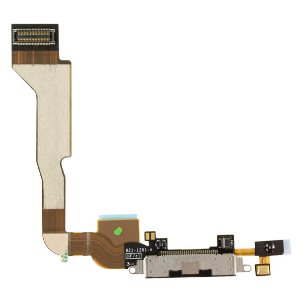 iPhone 4S: 30-pin Connector + Cable (Black)