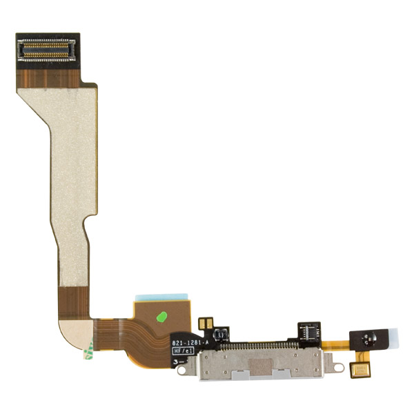 iPhone 4S: 30-pin Connector + Cable (White)