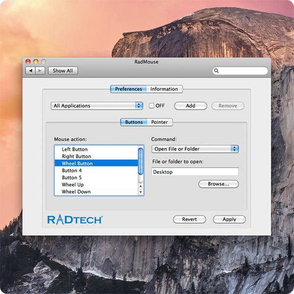 RadMouse: Quickly open folders or files