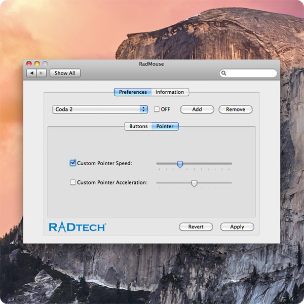 RadMouse: Change pointer speed and acceleration