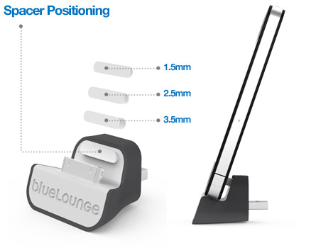 iPhone wall charger spacer sizes